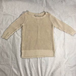 LOFT | Beige Knit Sweater, Petite Small